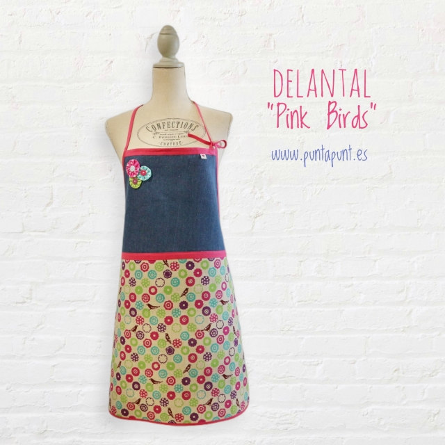 delantal mujer birds 01 punt a punt