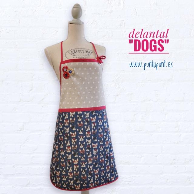 Delantal talla mujer «Dogs» – en stock