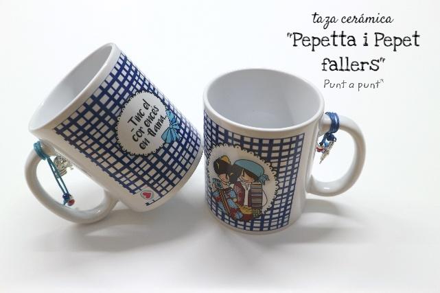 Taza fallera cerámica «Pepetta i Pepet fallers»- Punt a punt®