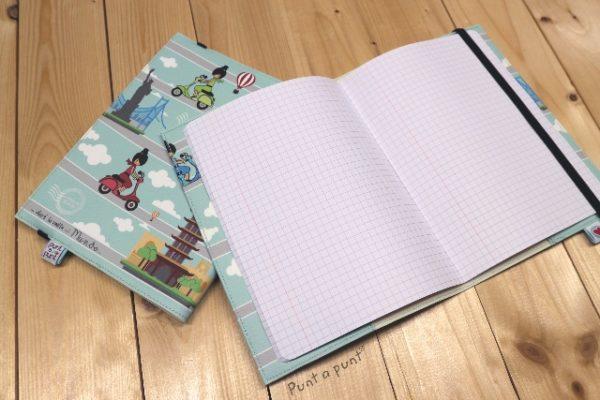 Funda cuaderno «La Vuelta al Mundo» – con libreta