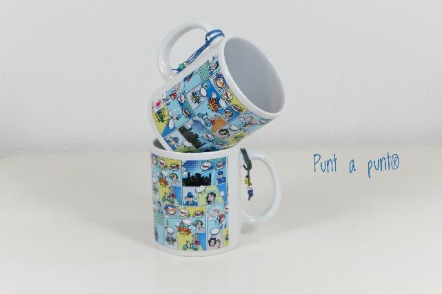taza ceramica comic punt a punt detalle