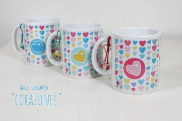 Taza cerámica «Corazones» – Punt a punt®