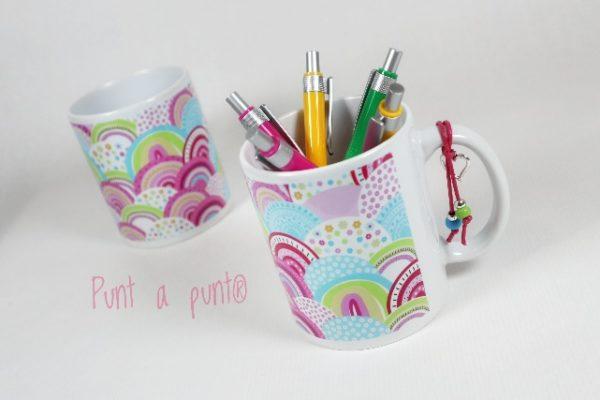 Taza de cerámica «Arcoiris» – Punt a punt®