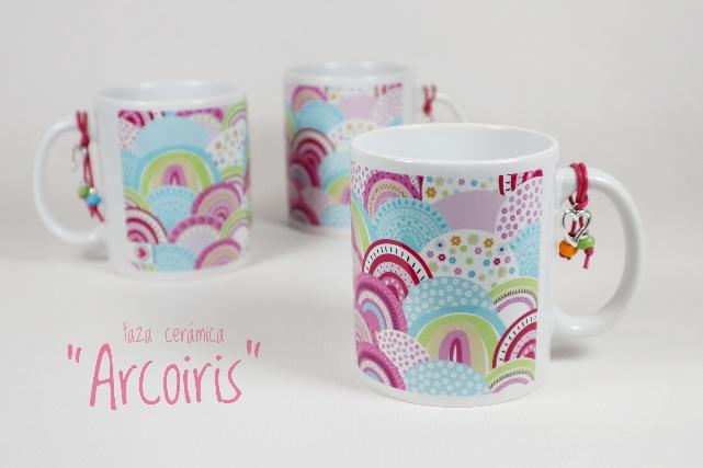 taza de ceramica arcoiris punt a punt imagen
