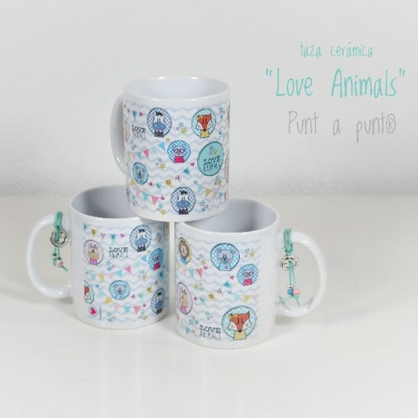 Taza de cerámica «Love Animals» – Punt a punt®