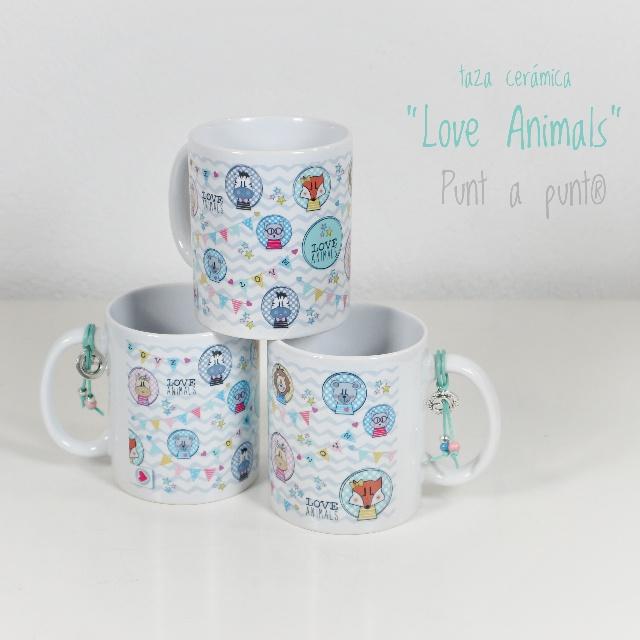 taza de ceramica love animals punt a punt 02