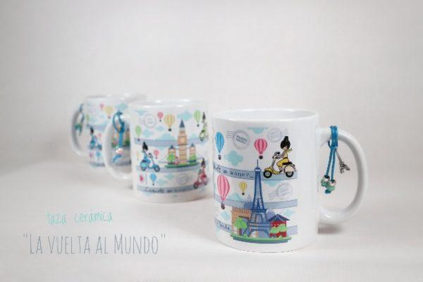 Taza de cerámica «La Vuelta al Mundo» – Punt a punt®